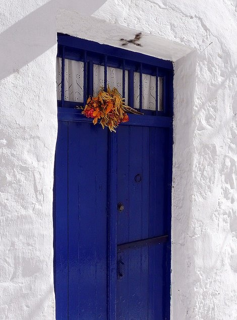 Blue door in Kimolos Greece