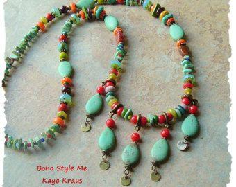 Conjunto collar joyería de objeto encontrado por BohoStyleMe