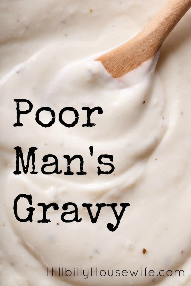 You don't need much to make this frugal white gravy from scratch.