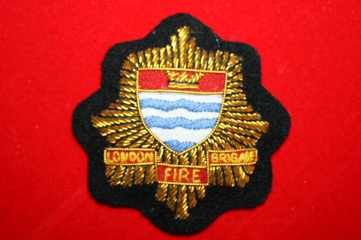 BRITISH LONDON FIRE BRIGADE SERVICE OFFICER'S CAP BADGE BULLION WIRE Khalida Embroidery Works Cotact Us: khalidaeworks@gamil.com Ph:+92-315-7880152