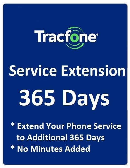 Phone Cards and SIM Cards 146492: Tracfone Service Extension