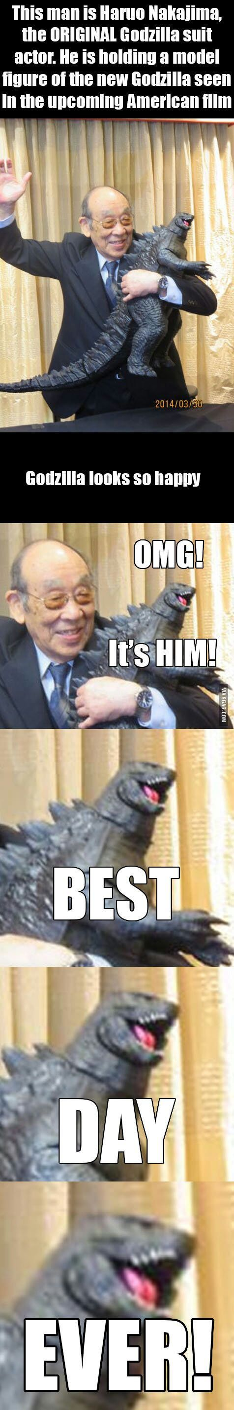 Haruo Nakajima~best Godzilla man (some days it's not about the CG, it's about the original)