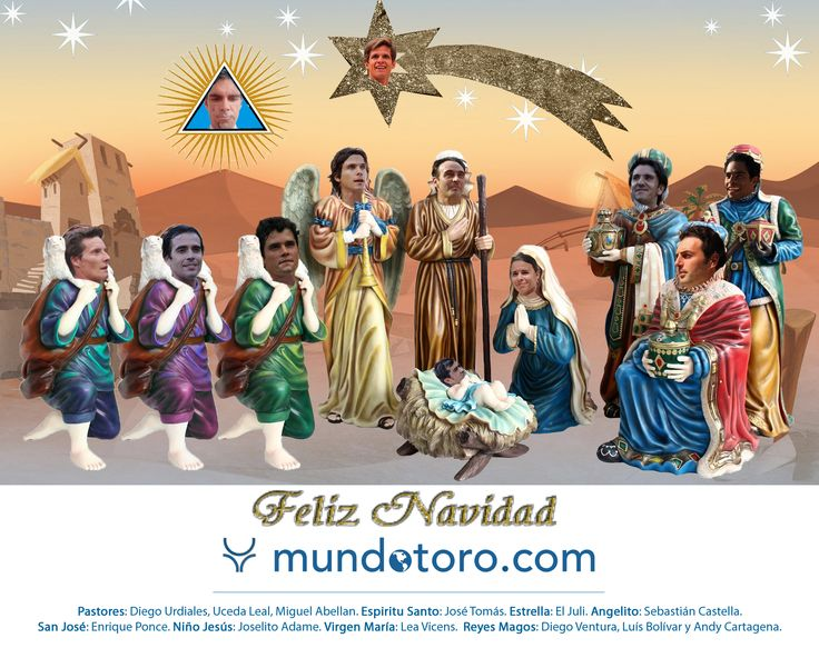 Belén taurino 2014. Toreros, empresarios, periodistas... el equipo de Mundotoro.com te desea una feliz navidad y próspero 2015. http://bit.ly/1ttolAk