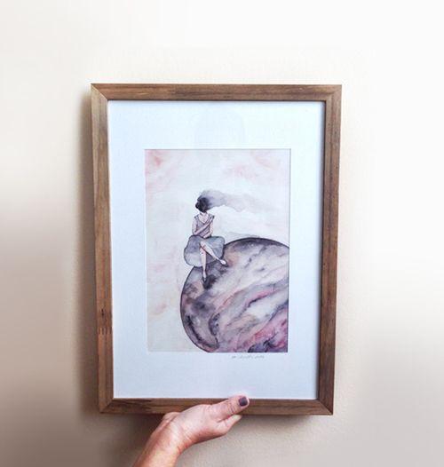 Arte feita em aquarela Reprodução/print em canvas (lona), sem moldura Formato A242 X 59,4cm . . . . . . . . . . . . . . . . . . . . . . . . . - Produzido sob encomenda - Envio via correios