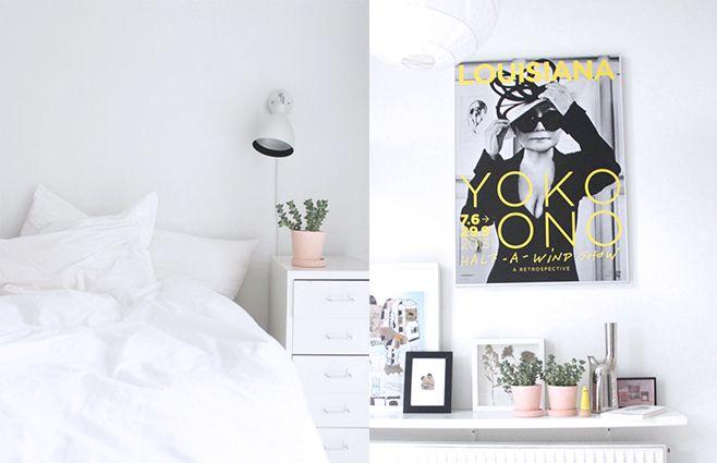 Hvidt i hvidt i soveværelset