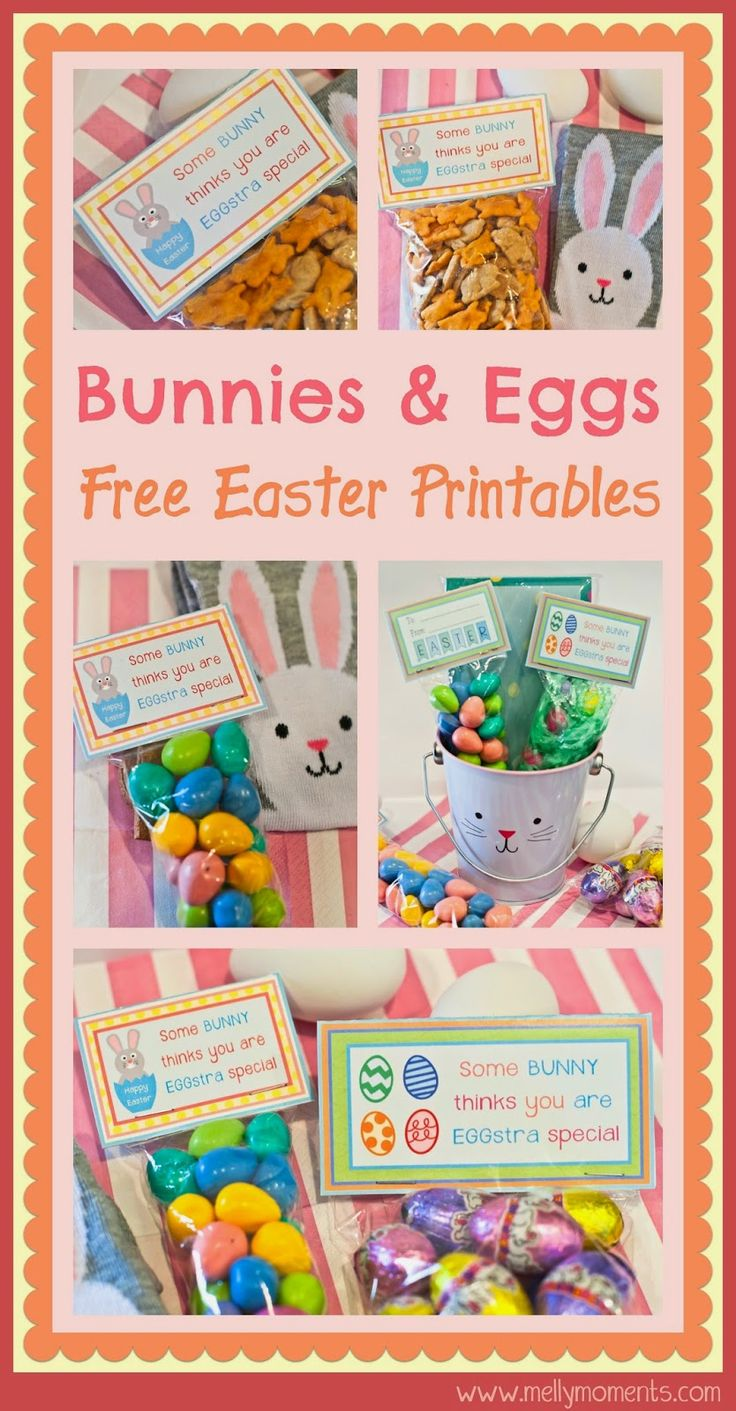 255 best easter ideas images on pinterest easter bunny easter free easter printables download these treat bag toppers and create the perfect addition to a negle