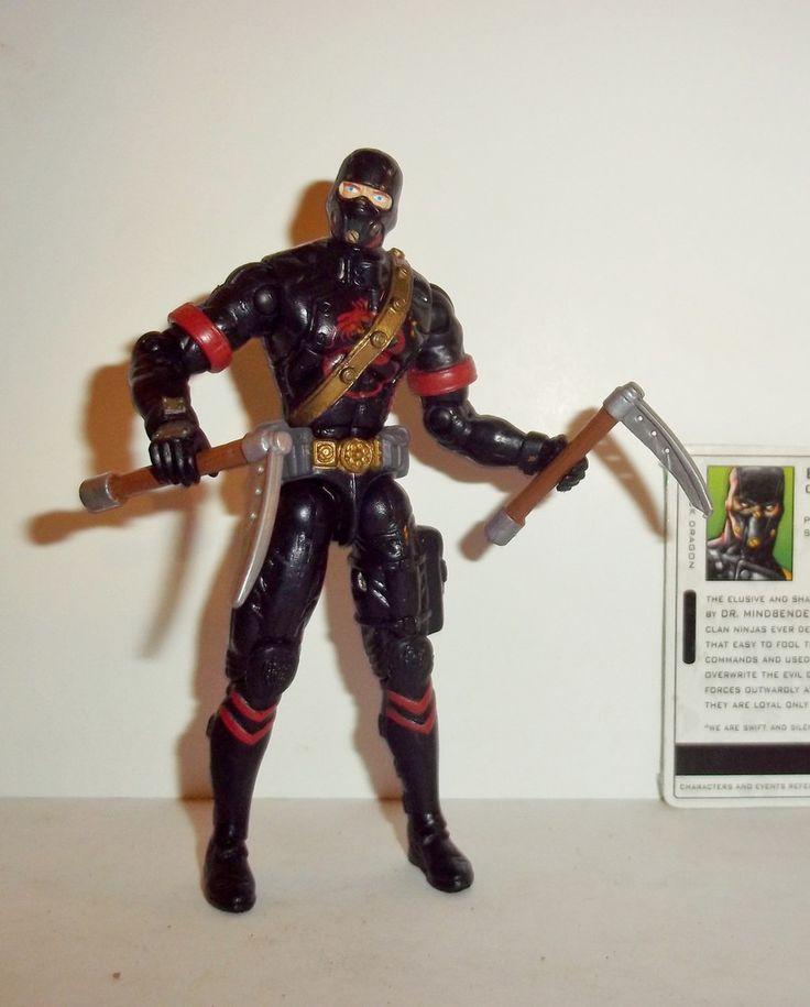 gi joe BLACK DRAGON NINJA 2005 ninja battles valor vs venom vvv Complete action figure for sale in online store to buy Hasbro toys