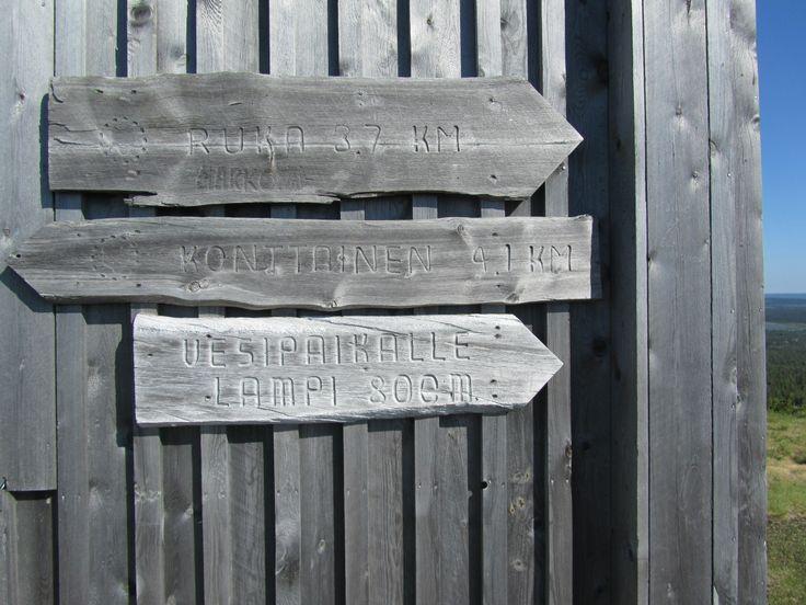 Signs on Valtavaara