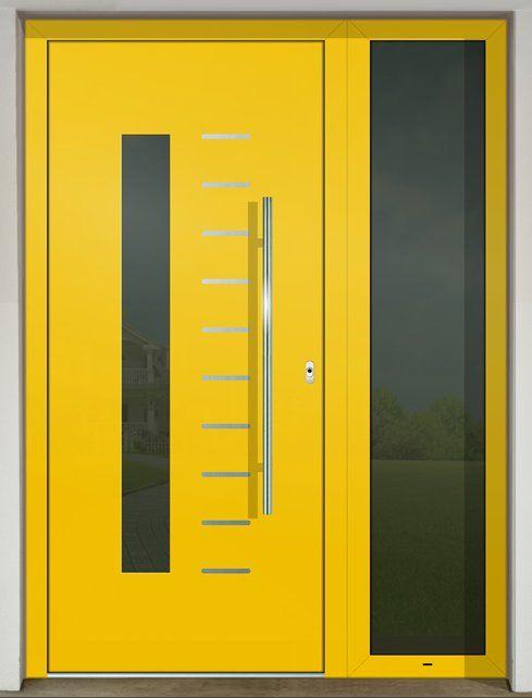 Vchodové dvere s hliníkovou dvernou výplňou GAVA 525 FD (s prekrytým krídlom)