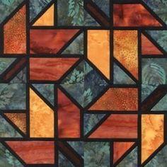 Quilt Patterns Free Quilt Patterns eQuiltPatterns.com: Stained Glass Maple Leaf Quilt Block