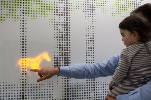 """The future of light - Brightening up a children's hospital Great Ormond Street. Using with  LED lights, Jason Bruges Studio designed """"Nature Trail,"""""""