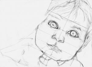 how to draw a realistic child step by step