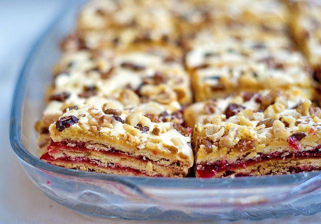 Jókai szelet - Jokai bars, traditional Hungarian pastry