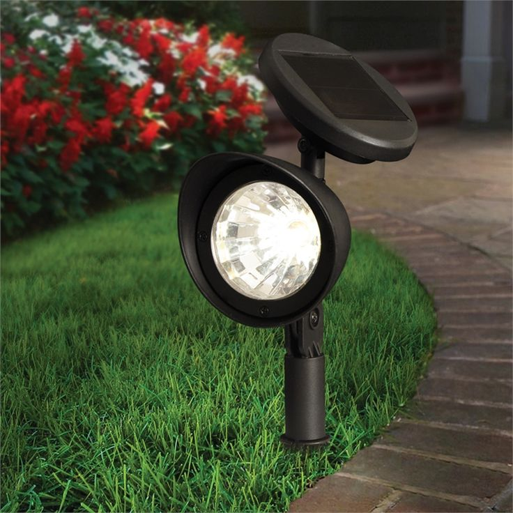 Lytworx Solar Spotlight Plastic 3 White LED