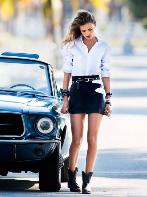 Shop this look on Lookastic:  https://lookastic.com/women/looks/dress-shirt-mini-skirt-ankle-boots-belt-scarf-bracelet/11722  — White Dress Shirt  — Black Leather Bracelet  — Black Print Scarf  — Black Mini Skirt  — Black Star Print Belt  — Black Leather Ankle Boots