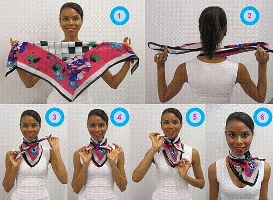 tying a small square scarf | the cameo scarf makes it easy for any woman to tie a scarf like an ...