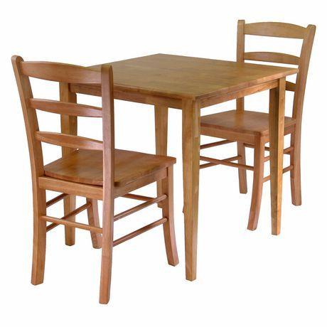Ensemble 3-pièces Groveland pour le diner, table carrée avec deux chaises de Winsome - 34330   300$