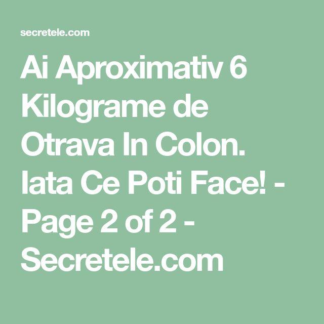 Ai Aproximativ 6 Kilograme de Otrava In Colon. Iata Ce Poti Face! - Page 2 of 2 - Secretele.com