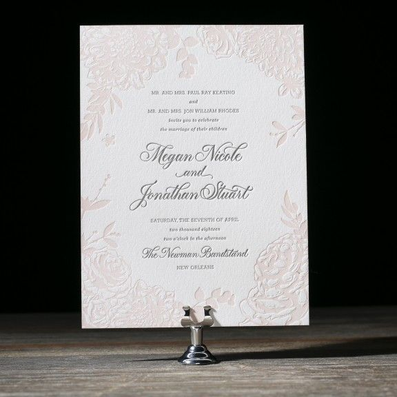 Lush Garden letterpress wedding invitation by Beth  Barr for Bella Figura. Customize yours with Paper Passionista.