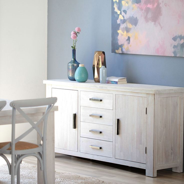 ALASKA white wash buffet creating the perfect tone balance in your coastal home, #coastalinspo #interiorstyling #interiordesign #pastel #homewwares