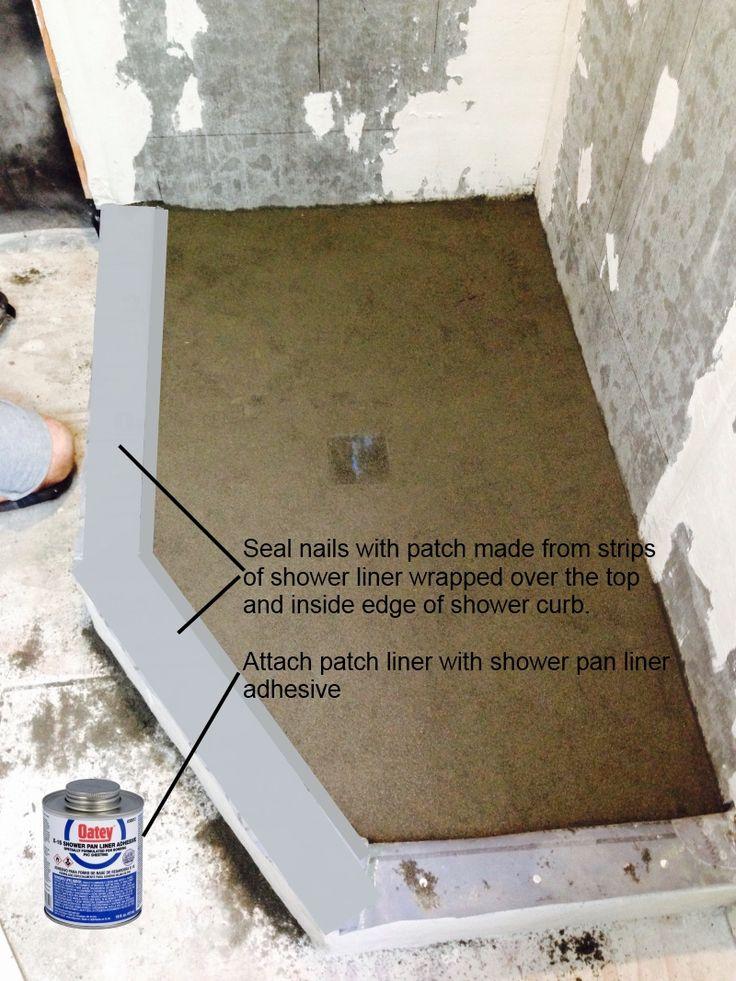 oatey shower pan liner installation instructions