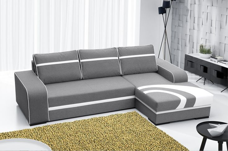 Fanciful pattern of the corner gusset into the living room perfect to your house! Fantazyjny wzór narożnika do salonu idealny do Twojego domu! #cornersofa #grey #white #mirjan24 #livingroom #sweethome #family #sofa