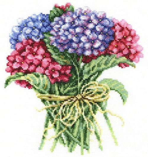 Hydrangea Bouquet Cross Stitch Kit | sewandso