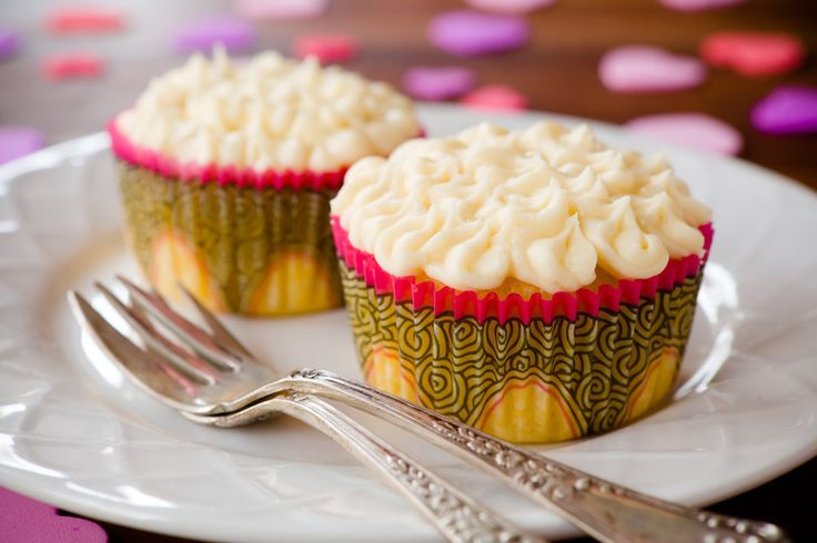 Passion Fruit Cupcakes for Valentine's Day with White Chocolate Frosting ~ Cupcake Project