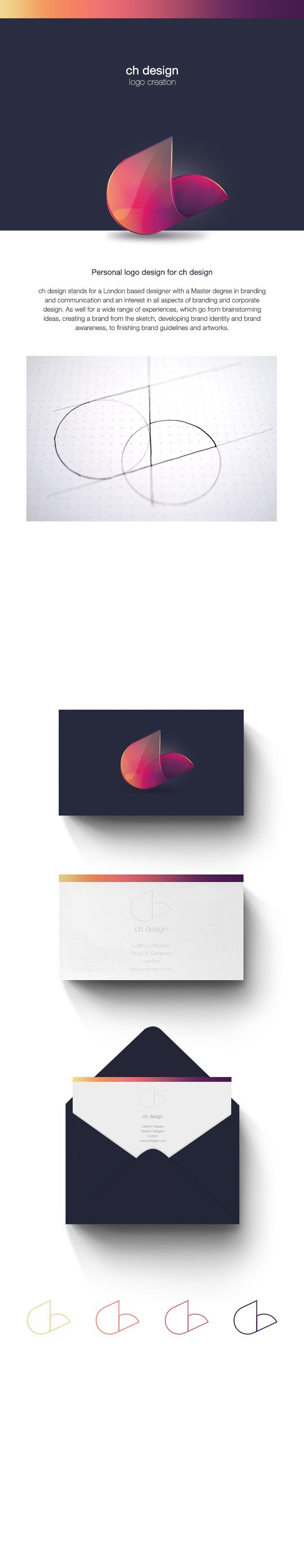 Personal logo design Branding, Graphic Design http://www.behance.net/Cathrinhansen