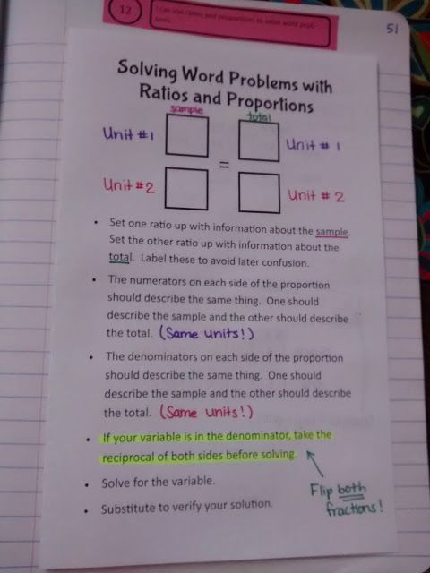 Math = Love: Solving Word Problems with Ratios and Proportions
