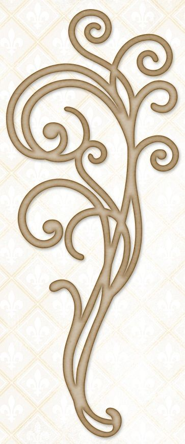 Blue Fern Studios - Chipboard - Large Blue Fern Flourish