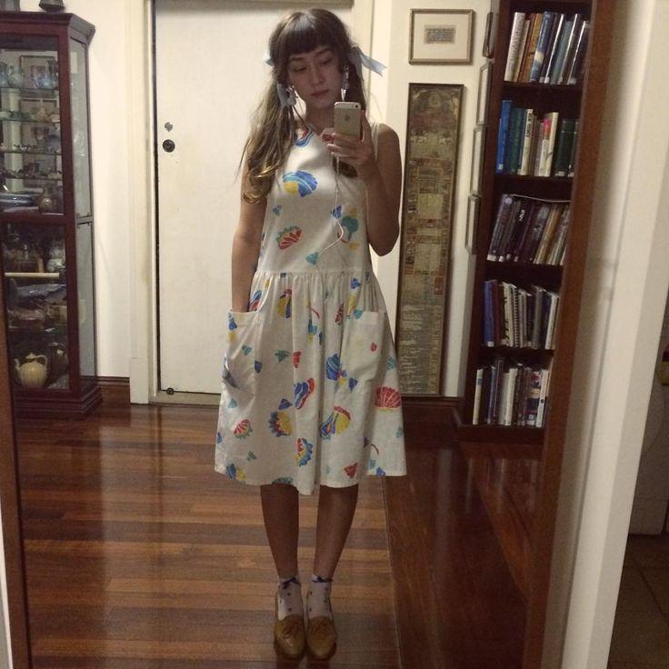 "248 Likes, 20 Comments - Calliope Bridge (@callyrabbit) on Instagram: ""Summer feels = sack dress 🌊🐠🐬🐟"""