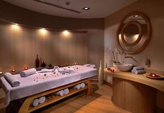 massage therapy room design | Caretta Massage Room - Courtyard Istanbul International Airport