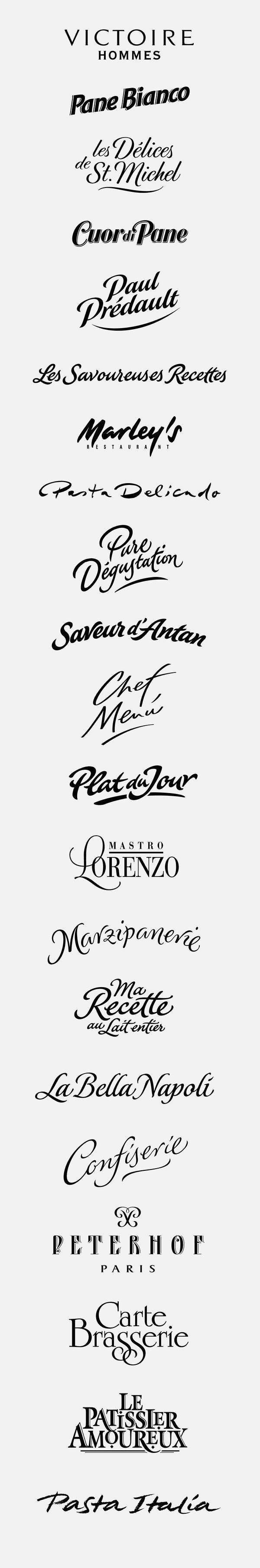 logotypes: tradition, artisan by Peter Becker, via Behance