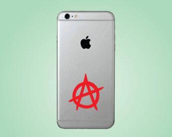 Simbolo di anarchia Custom VINYL DECAL - Silhouette Decalcomanie da - telefono cellulare Decal per lui suo amico fidanzato bambini - vinile adesivo