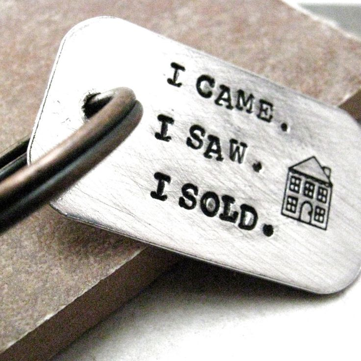 I Came, I Saw, I Sold Key Chain - perfect gift idea for your favorite Real Estate Agent . . . hint, hint