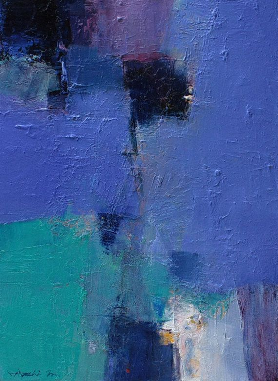 February 2013 - 1 - Original Abstract Oil Painting - 33.3 cm x 24.2 cm (app. 13.1 inch x 9.5 inch)
