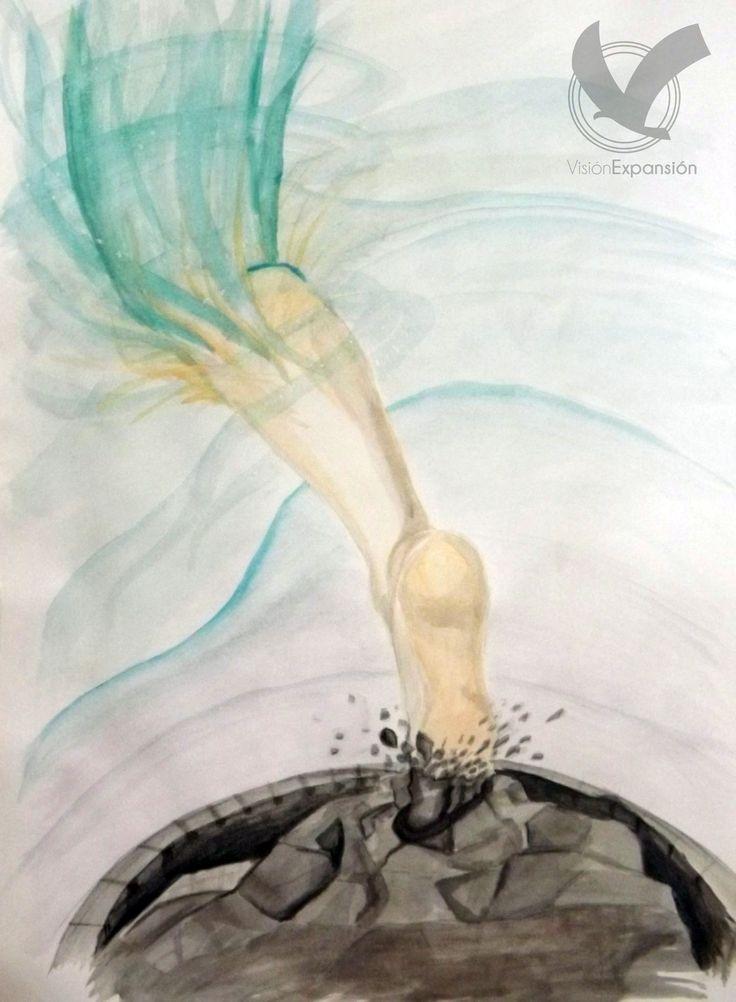Somos transformados y revestidos a su misma imagen, disolviendo nuestra sustancia, disolviendo nuestra imagen, y poniendo de SU sutancia sobre la nuestra, para que menguemos nosotros y ÉL crezca. Dejándonos disolver por Él, incluso las estructuras de religión, de apariencias, las estructuras mentales, las murallas impenetrables, son quebratadas y disueltas por su poder. #VisiónExpansión