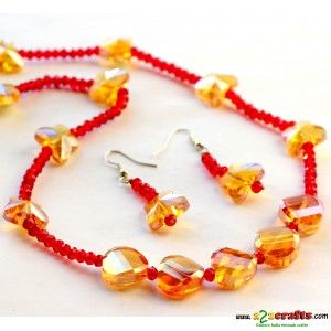 Crystal Jewelry - Beads & Crystal Crafts - Rs 949 - Hand Made Crafts - Buy & Sell Indian Handmade Crafts and Handmade Jewelry and Gifts