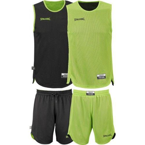 Ensemble de basket Spalding réversible Junior composé d'un maillot de basket réversible et d'un short de basket