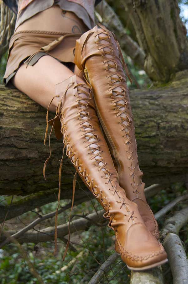 Gipsy Dharma Tan Leather boots    http://www.gipsydharma.com/                                                                                                                                                      More