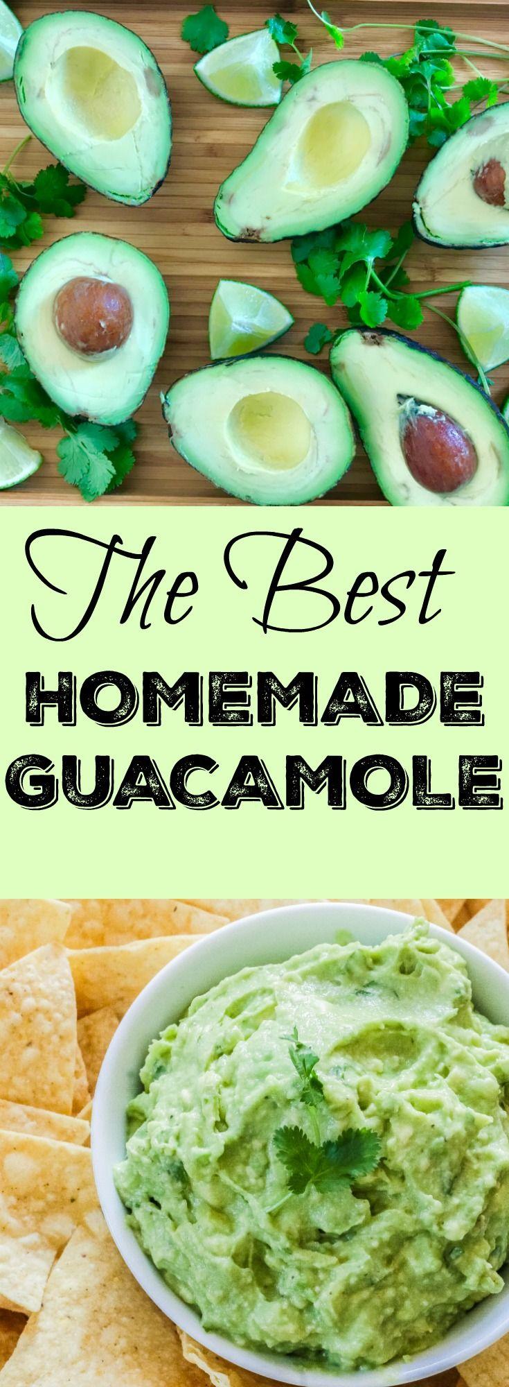 The BEST Homemade Guacamole// Kathryn's Kitchen Blog