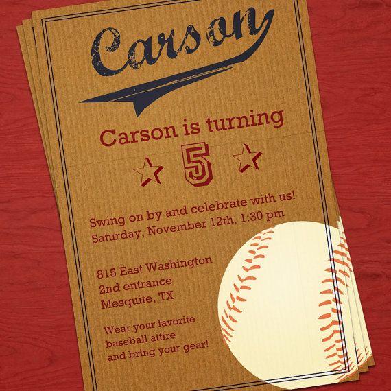 Vintage Baseball Birthday Invitations: 25+ Best Ideas About Baseball Birthday Invitations On