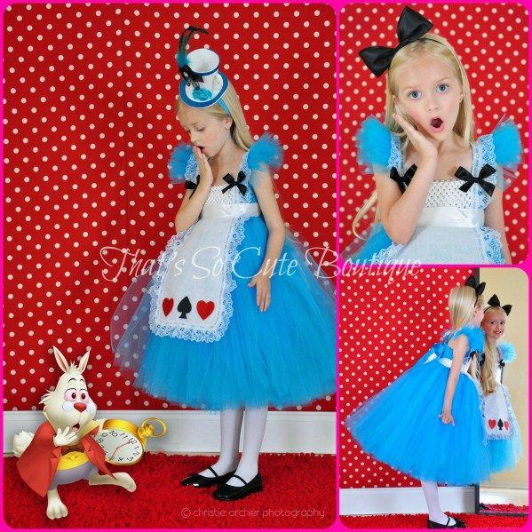 Vestido Infantil festa temática | Alice no País das Maravilhas | Tutu Dress