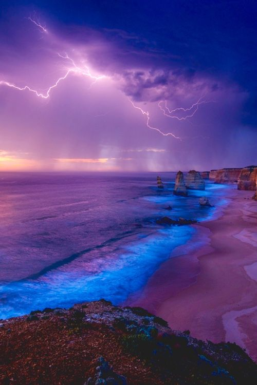 Beautiful colors of the storm