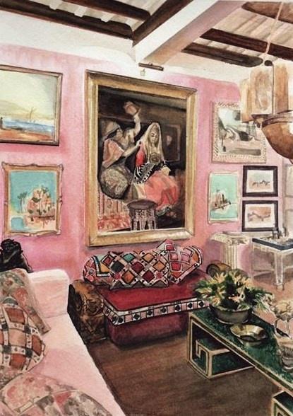 I love pink walls