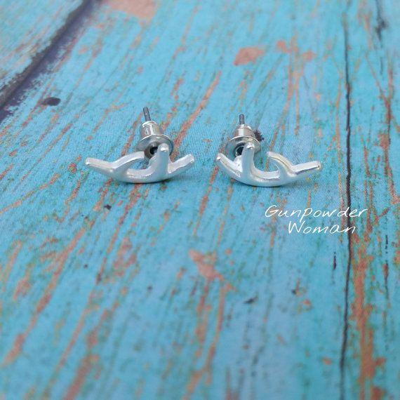 Deer Antler Earrings Gunpowder Woman www.etsy.com/shop/gunpowderwoman Country Girl Bullet Jewelry Hunting Camo