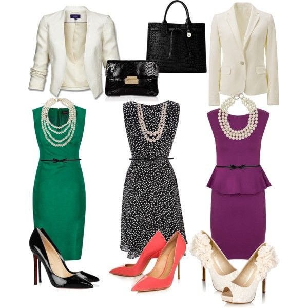 Staple dresses mixed and matched with blazers make easy and polished outfits.