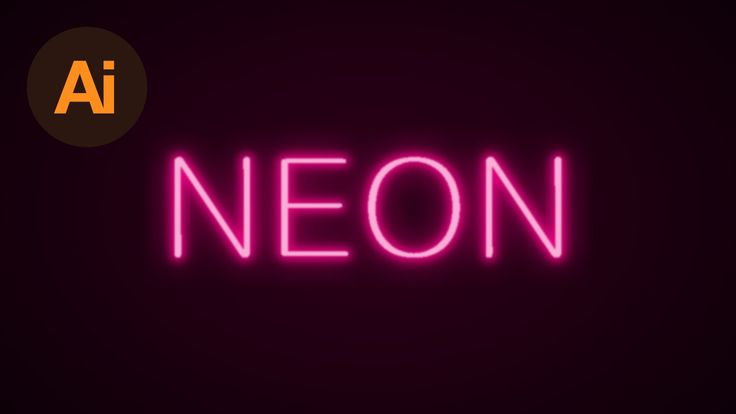 Learn How to Create a Neon Text Effect in Adobe Illustrator | Dansky - YouTube