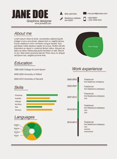 82 best Resume Templates   Plantillas images on Pinterest Free - free creative resume templates download